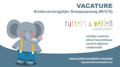VACATURE – Kinderbegeleider Groepsopvang (M/V/X)  – ANTWERPEN